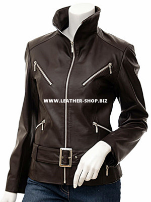 Ladies Leather Jacket Custom Made Motorcycle Style LLJ617 Made In 8 Colors