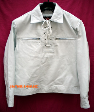 Lambskin Leather Pullover Shirt Custom Made Style LS091 8 Colors available