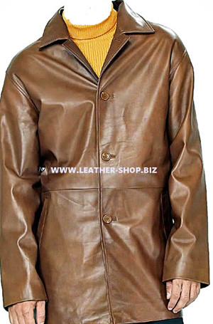 Men's leather Long Coat custom made style MLC534