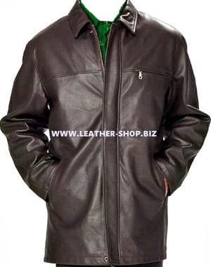 معطف جلد طويل للرجال مصنوع حسب الطلب MLC536