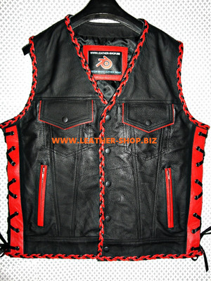 Mens Lederjas Vest Fettemist MLVB1301 Two Color