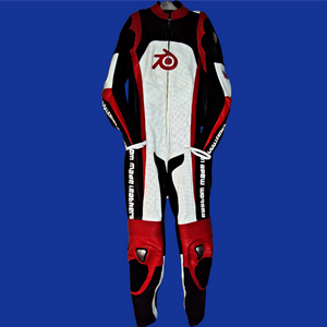 Leather racing suit custom made - style MS0013LS