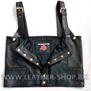 Tupac Shakur leather vest replica vest front pic 2.