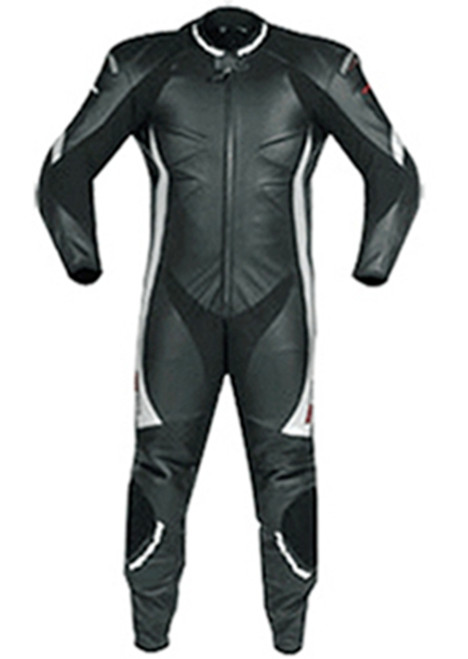 Leather motorcycle racing suit custom made style 840 black pic