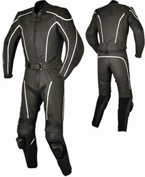 Leather racing suit custom made - style MS674 WWW.LEATHER-SHOP.BIZ front and back pic