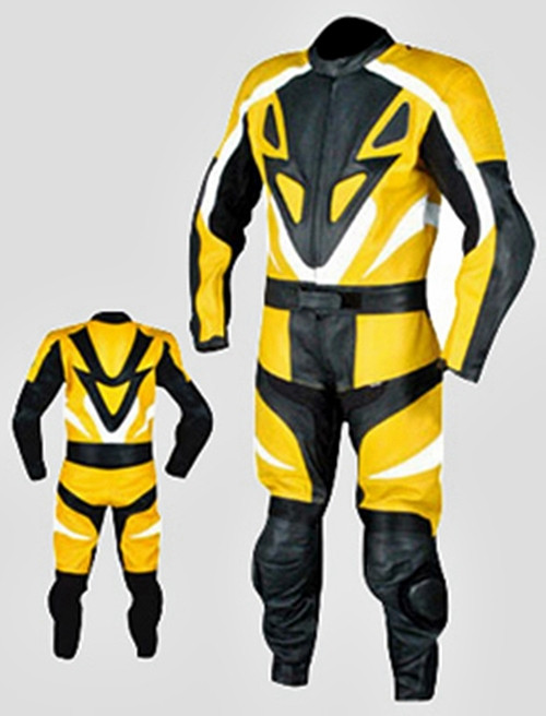 Leather racing suit custom made - style MS679 WWW.LEATHER-SHOP.BIZ front and back pic