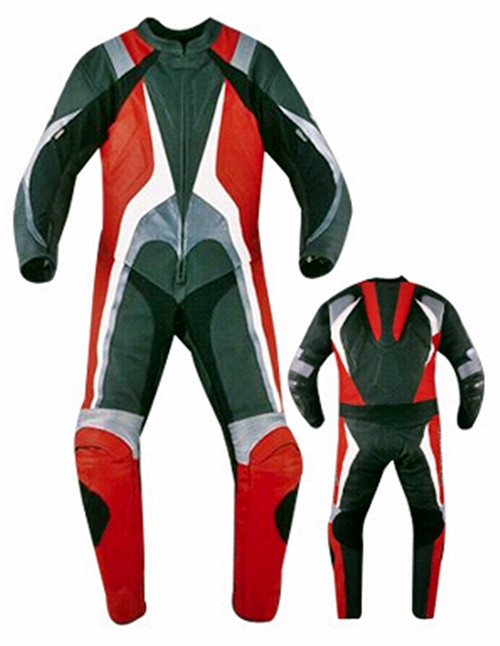 Leather racing suit custom made - style MS334 WWW.LEATHER-SHOP.BIZ front pic