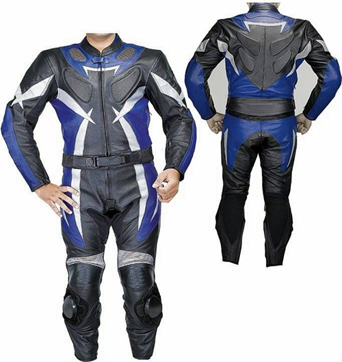 Leather motorcycle suit custom made - style MS2550 WWW.LEATHER-SHOP.BIZ  front + back  pic