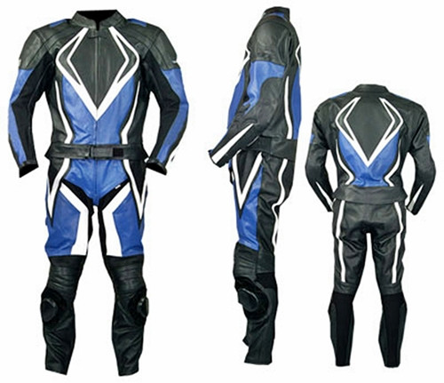 motorcycle racing suit custom MS2054 leather suit front/side and back picture