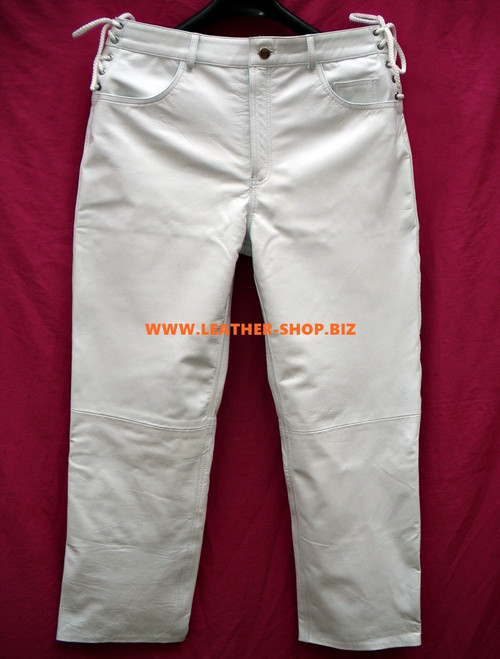 Mens Leather Jean Style Pants MLP1142