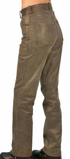 Jeans style leather pants WLP2141 WWW.LEATHER-SHOP.BIZ side pic