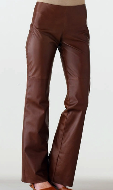 Lambskin leather pants style WLP220 WWW.LEATHER-SHOP.BIZ front pic