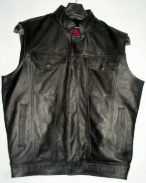 Leather vest MLV1334 WWW.LEATHER-SHOP.BIZ front pic
