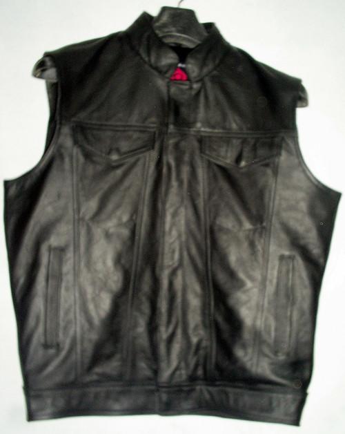 Leather vest MLV1334 WWW.LEATHER-SHOP.BIZ front pic