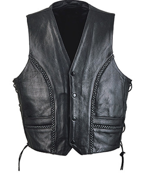 Leather vest style MLV1358 www.leather-shop.biz front pic