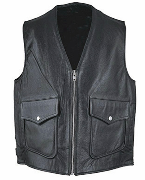 Leather vest 1371 www.leather-shop.biz front image