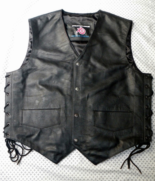 Leather vest 732 www.leather-shop.biz front image
