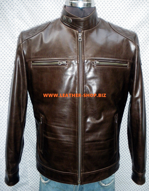 Leather Jacket Retro Style MLJ0099 Custom Made In 8 Colors