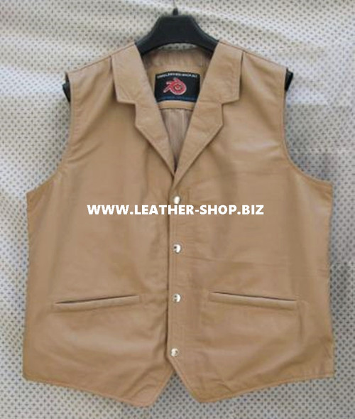 Mens Leather Vest Western Style MLV84 7 Colors Available