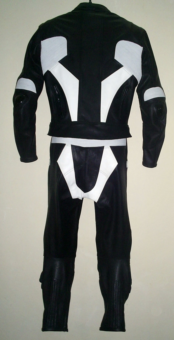 Leather racing suit custom made - style MS679 WWW.LEATHER-SHOP.BIZ back pic