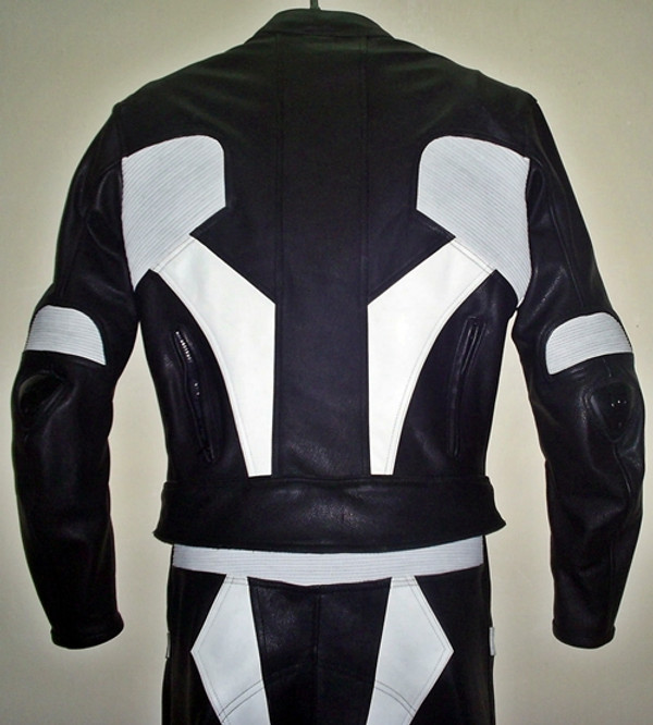 Leather racing suit custom made - style MS679 WWW.LEATHER-SHOP.BIZ upper back pic