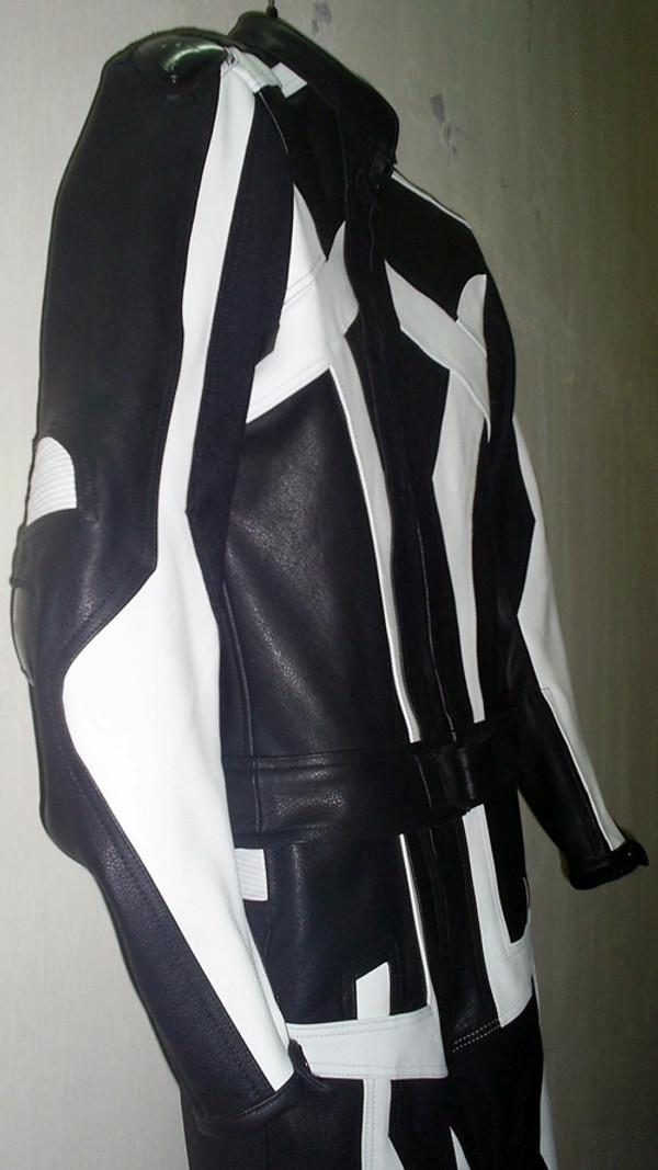 Leather racing suit custom made - style MS679 WWW.LEATHER-SHOP.BIZ side pic
