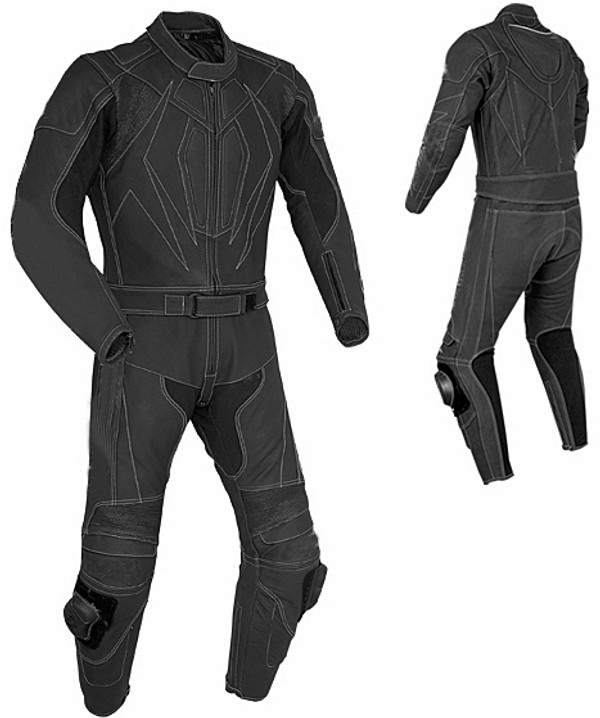 Leather racing suit custom made - style MS675 WWW.LEATHER-SHOP.BIZ front and side pic