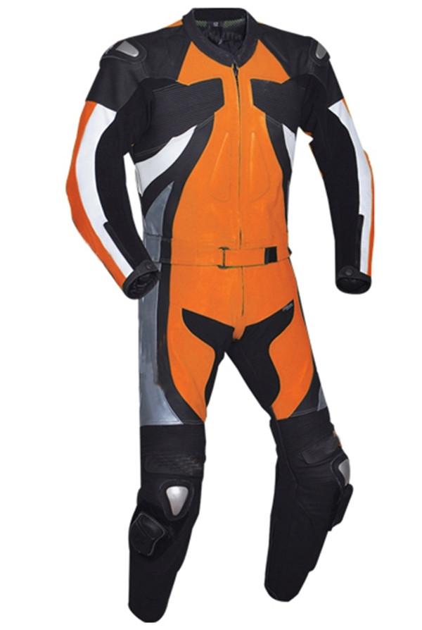 Leather racing suit custom made - style MS2677 WWW.LEATHER-SHOP.BIZ Orange pic