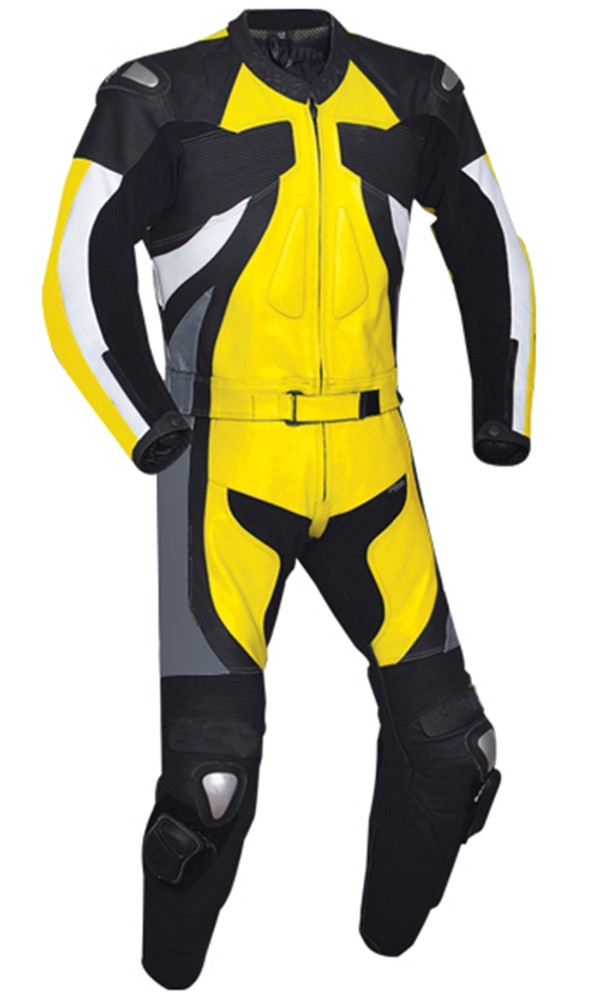 Leather racing suit custom made - style MS2677 WWW.LEATHER-SHOP.BIZ Yellow pic
