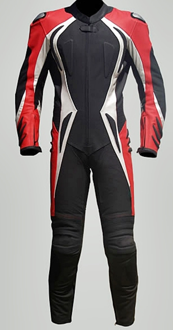motorcycle suit style MS2090 Leather-Shop.biz red front pic