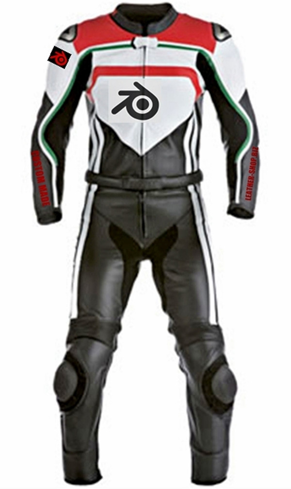motorcycle suit style MS0030LS WWW.LEATHER-SHOP.BIZ front and back pic