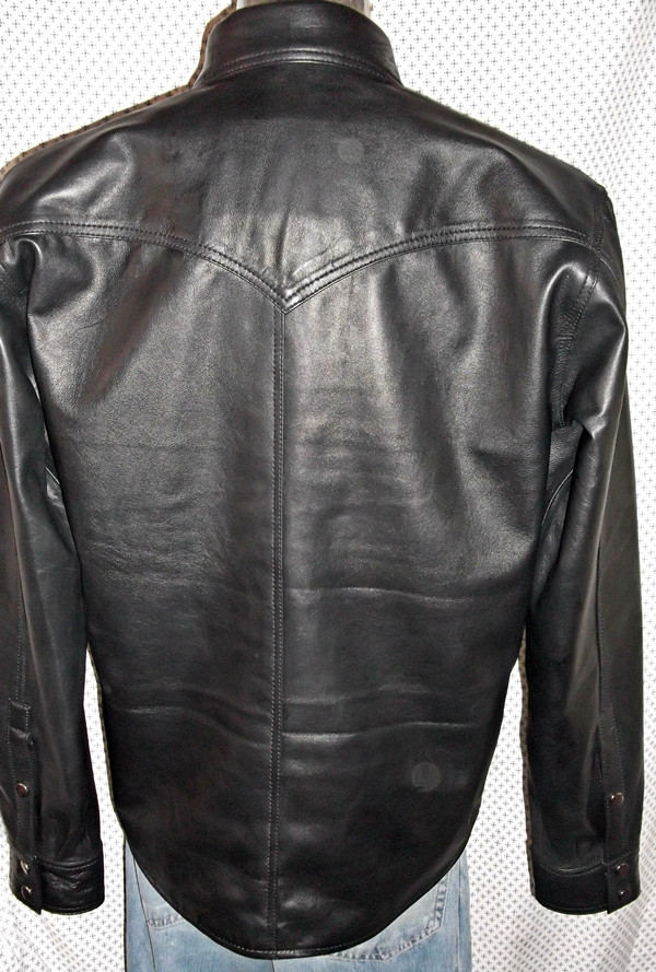 LS037 leather shirt WWW.LEATHER-SHOP.BIZ back pic