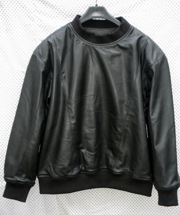 Nahast higisärk LSS010 koos lambanaha voodriga www.leather-shop.biz särgi ees pilt 2