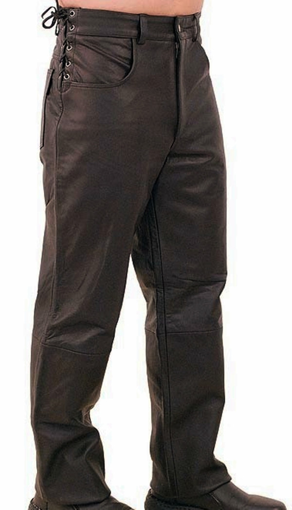 Leather Pants Jeans Style MLP1142 Custom Made WWW.LEATHER-SHOP.BIZ Side pic