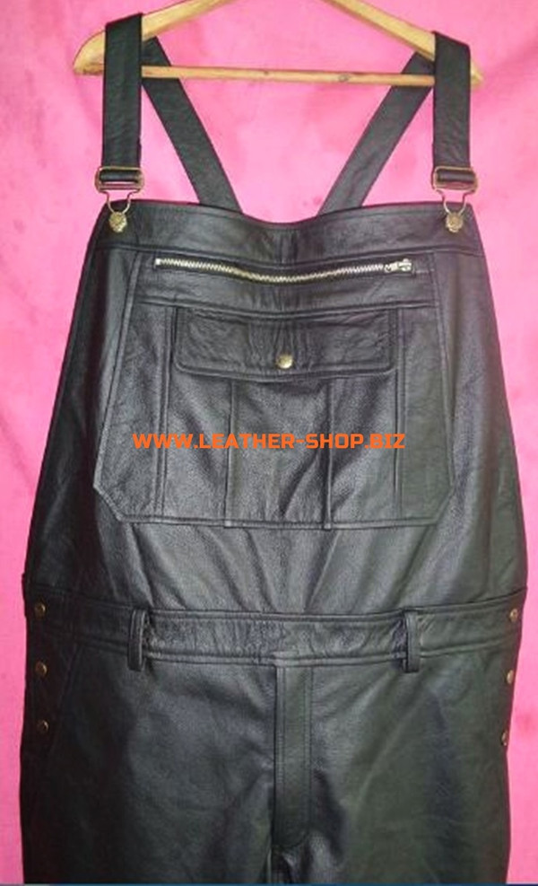 Leather Coveralls  style MLP250 WWW.LEATHER-SHOP.BIZ custom made coveralls front pic 3