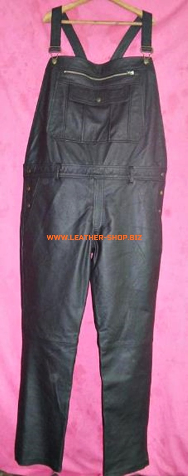 Leather Coveralls  style MLP250 WWW.LEATHER-SHOP.BIZ custom made coveralls front pic 2