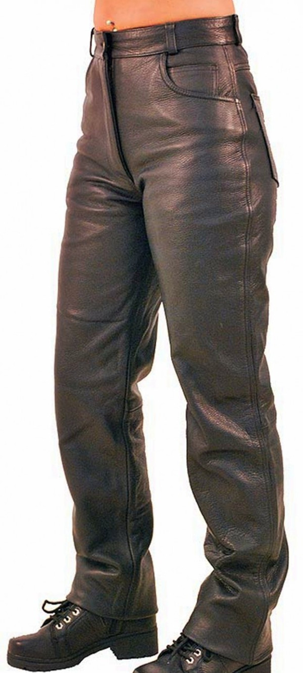 Jeans stil læder bukser WLP2140 WWW.LEATHER-SHOP.BIZ side pic