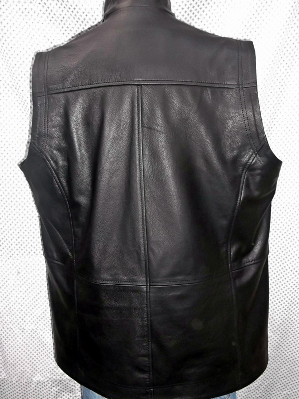 Long leather vest style MLVL10 www.leather-shop.biz back pic