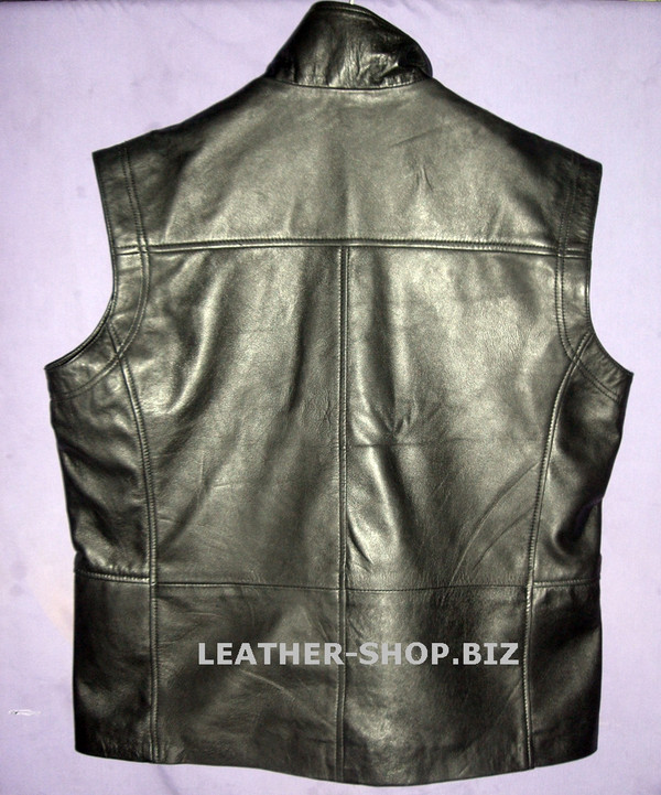 leather vest style MLVL10 www.leather-shop.biz custom made back picture