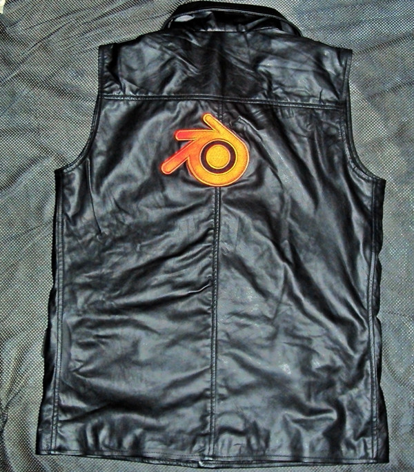 Leather vest based on WWII Luftwaffee style jacket WWW.LEATHER-SHOP.BIZ shown with logo and patch 2