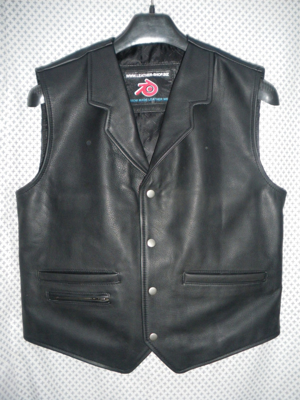 Mens Leather Vest Western Style MLV85 9 Colors Available