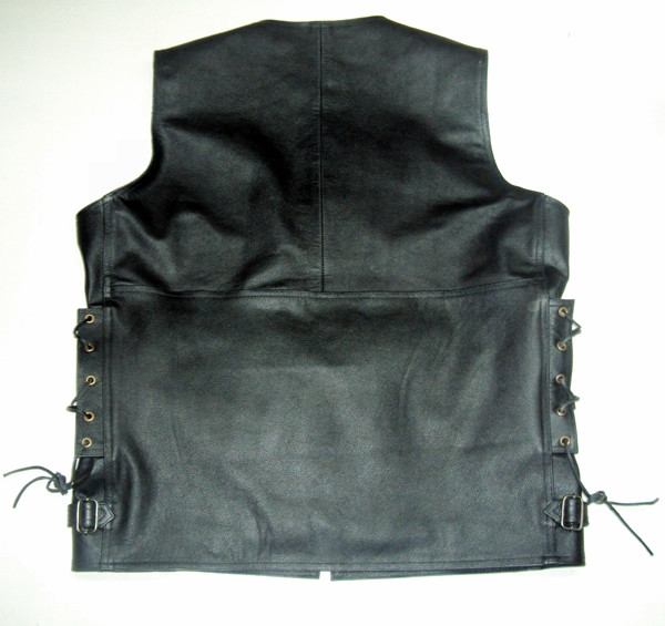 Leather vest style MLV1363L www.leather-shop.biz back pic