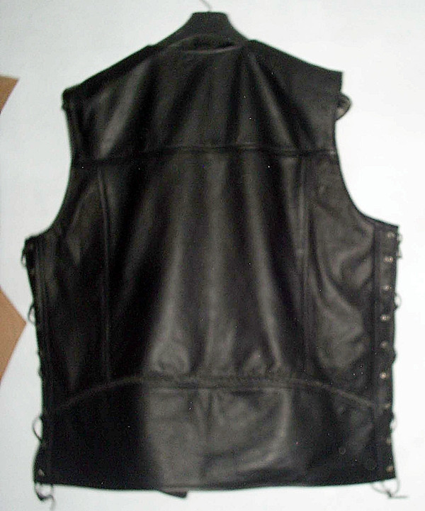Leather Vest Style MLV1359 www.leather-shop.biz back pic