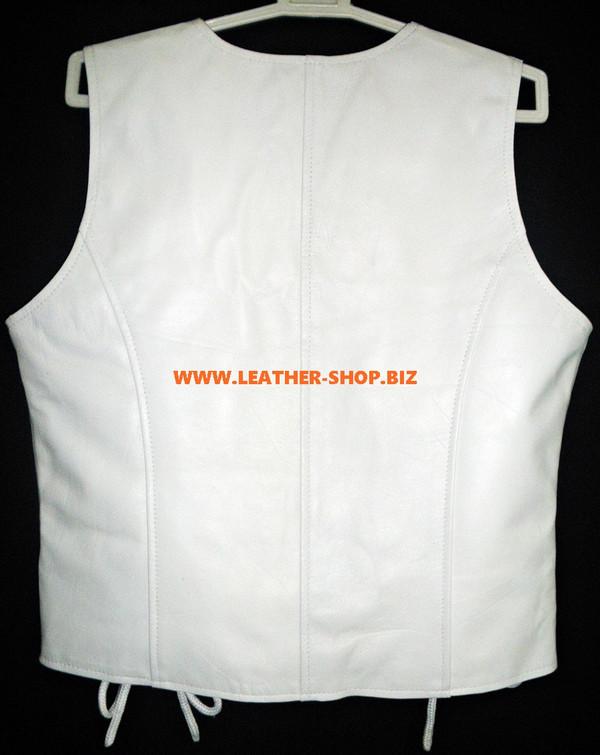 Dámské kožené vesty ve stylu WLV1216 dostupné v barvách 9