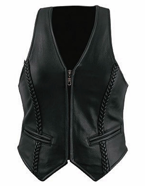 Custom Made Leather Vest Style WLV1246