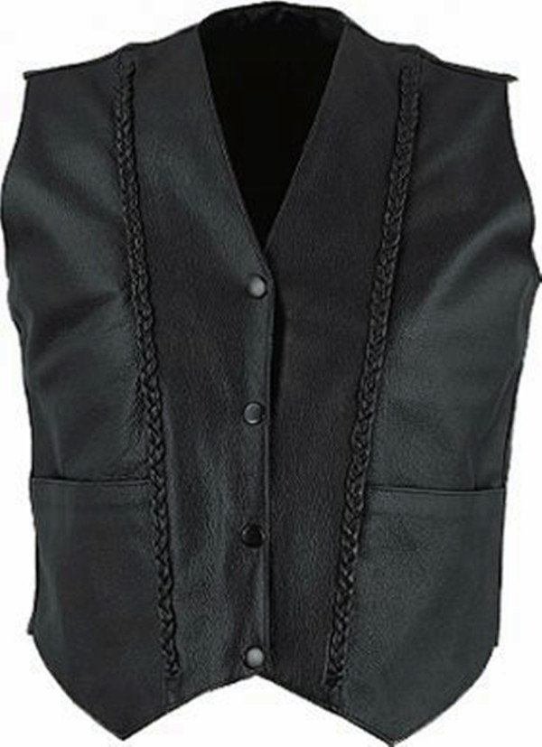 Custom Made Leather Vest Style WLV1247