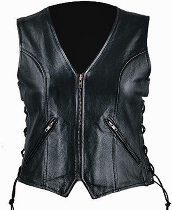 Custom Made Leather Vest Style WLV1208