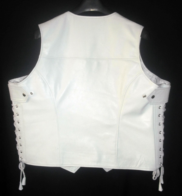 Custom Made Leather Vest Style WLV1201 WWW.LEATHER-SHOP.BIZ back pic