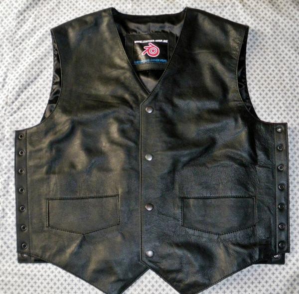 Leather vest 732 www.leather-shop.biz front 2 image