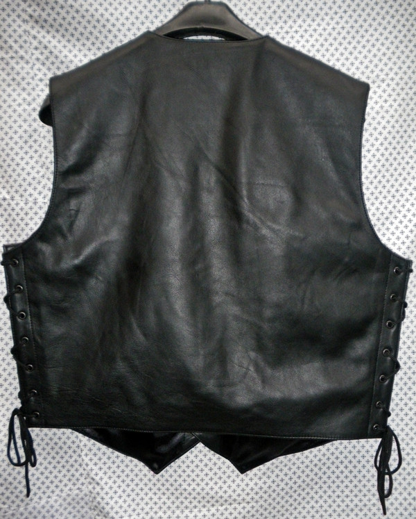 Leather Vest Style MLV740 no seams WWW.LEATHER-SHOP.BIZ back pic